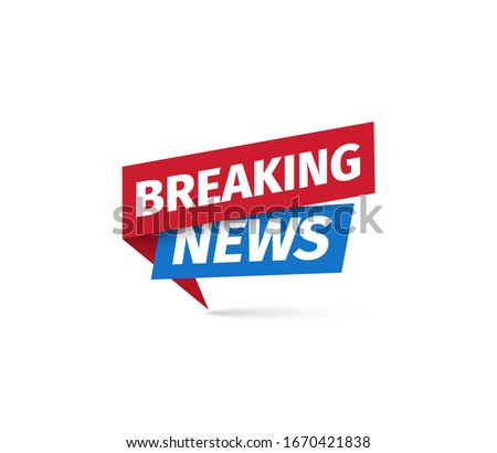 Breaking news Isolated vector icon. Sign of main news on white background