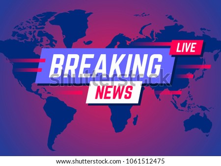 Breaking news banner background with world map descargue grficos news broadcast and breaking news live on world map background vector illustration gumiabroncs Choice Image