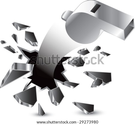 breakthrough whistle isolated - stock vector