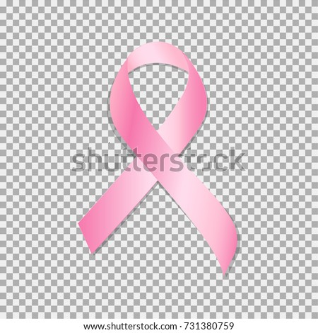 Breast Cancer Awareness Month. Realistic pink ribbon, breast cancer awareness symbol. Vector illustration #731380759
