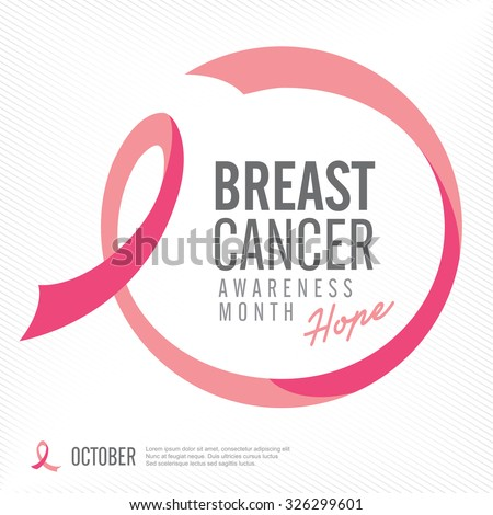 Breast cancer awareness pink ribbon background,vector illustration #326299601