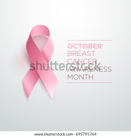 Breast Cancer Awareness Ribbon. Vector design and illustration.