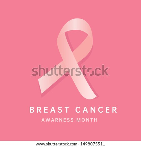 Breast cancer awarness month pink ribbon