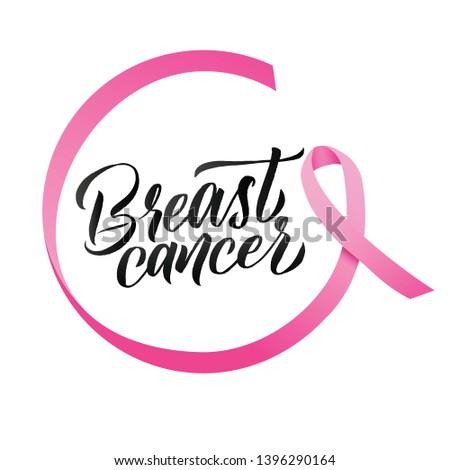 Breast Cancer. Pink Ribbon Breast Cancer Awareness Vector Illustration
