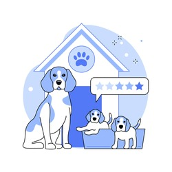 Breed club abstract concept vector illustration. Canine breed show, top dog standard, buy purebred pet, professional training service, feline club, kennel association member abstract metaphor.