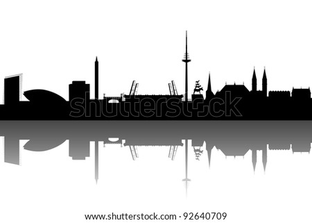 Bremen silhouette abstract