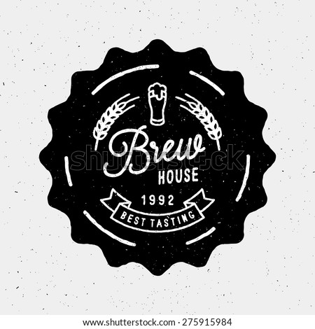 brew house vintage logotype for