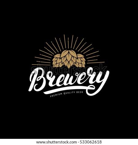 brewery hand written lettering...