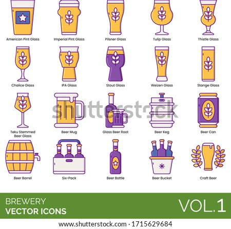brewery icons including