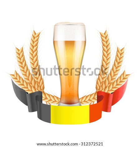 brewery label with beer glass