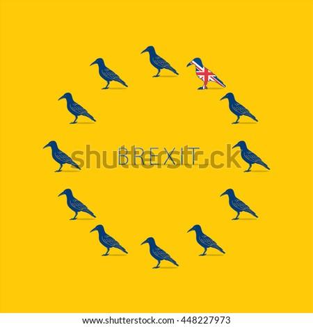 brexit design concept devoted