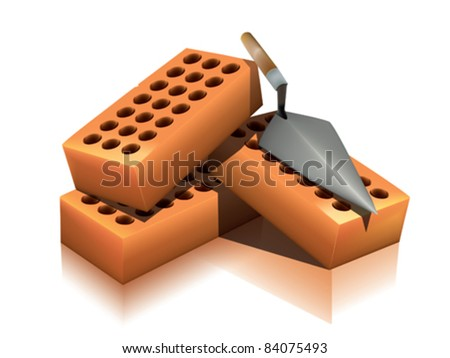Brick - stock vector