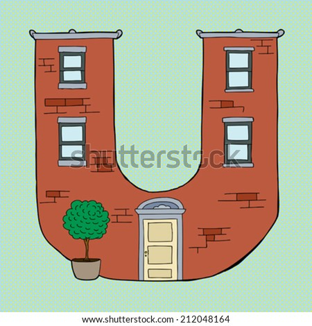 Brick Apartment Building In Brick Apartment Building Illustration