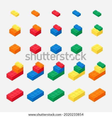 brick block toys 3d vector like