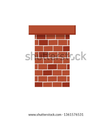 brick chimney   flat design