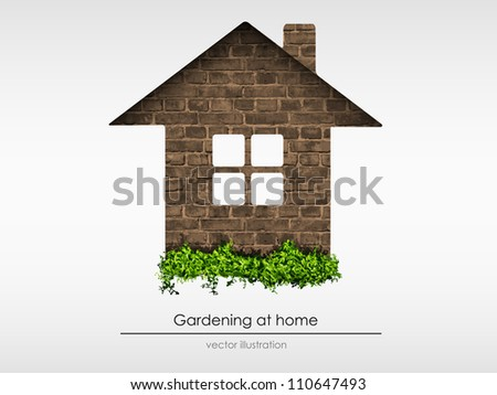 brick house with grass