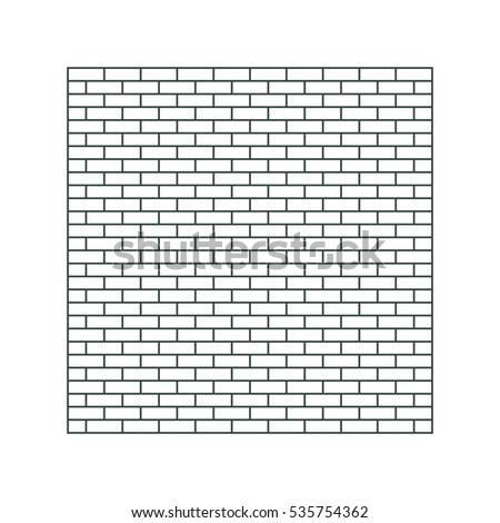 brick icon vector flat design