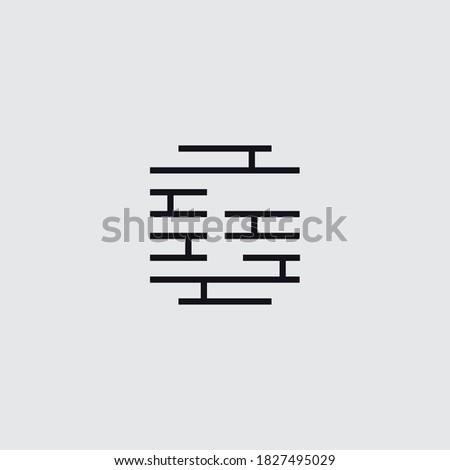 Brick logo with letter G symbol vector template Stock fotó ©