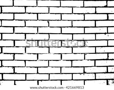 Brick Texture Effect.Grunge Texture. Wall Background .Vector Illustration.