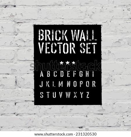 brick traced texture  stencil