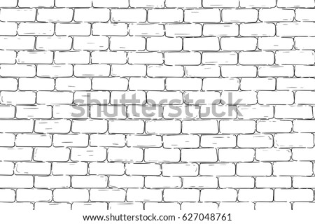Brick wall background. Vector illustration