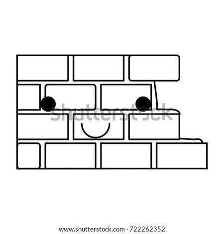brick wall flat icon monochrome