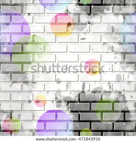 brick wall  graffiti seamless