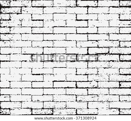 Brick Wall Overlay Grunge Seamless Texture Abstract Black And White Distress Scratch Rust