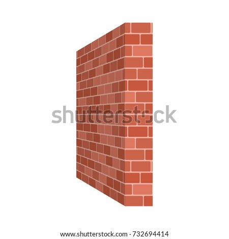 brick wall perspective isolated