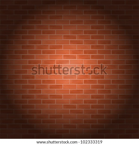 Brick wall, vector eps10 illustration