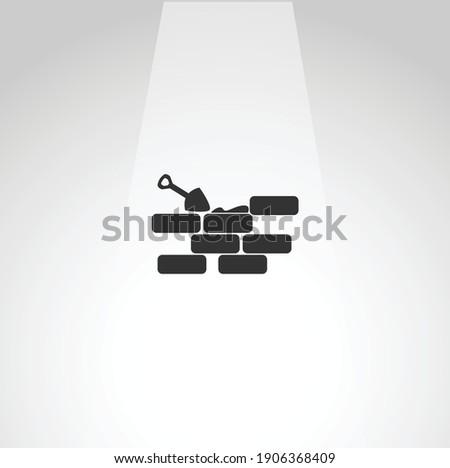 Brick wall vector icon, Bricks. Brick wall vector icon, Bricks. Brick wall vector icon, Bricks