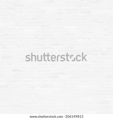 Brick wall, white relief texture with shadow, vector background illustration