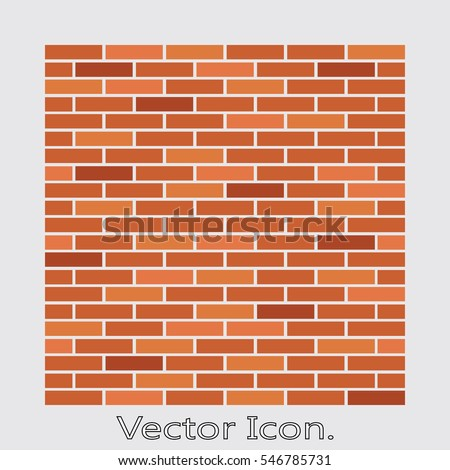 brick work icon isolated of