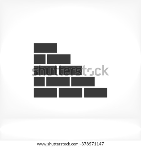 bricks icon  bricks icon flat