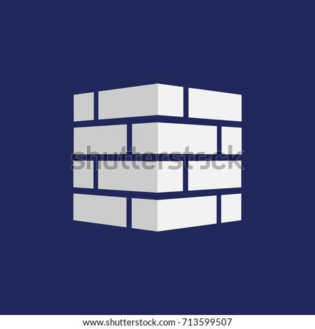 Bricks icon. Bricks logo. isolated on background. Vector illustration. Eps 10.
