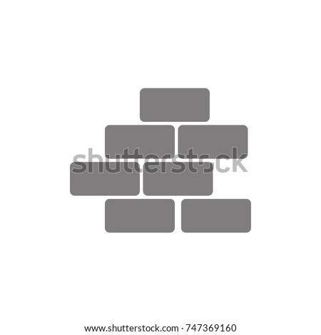 bricks icon. Web Icon. Premium quality graphic design. Signs, outline symbols collection, simple icon for websites, web design, mobile app on white background