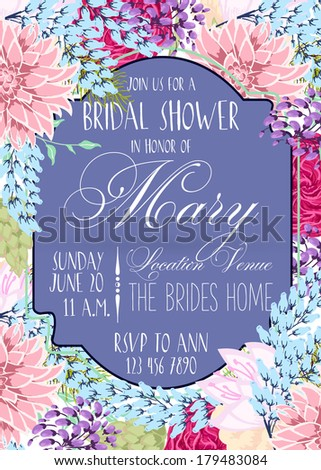 Bridal invitation