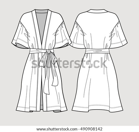 bridal robe sleeve satin