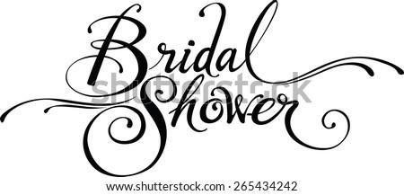 stock vector bridal shower 265434242