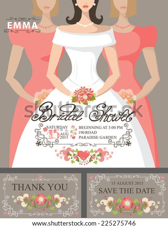 bridal shower invitation set