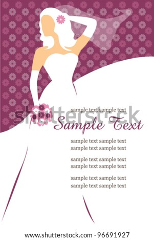 Bridal Shower Invitation. Vector illustration. - stock vector