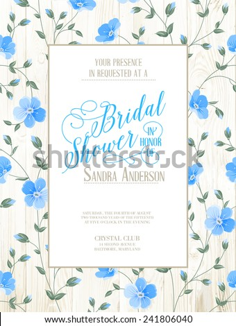 bridal shower invitation with