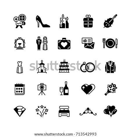 bridal vector symbols wedding
