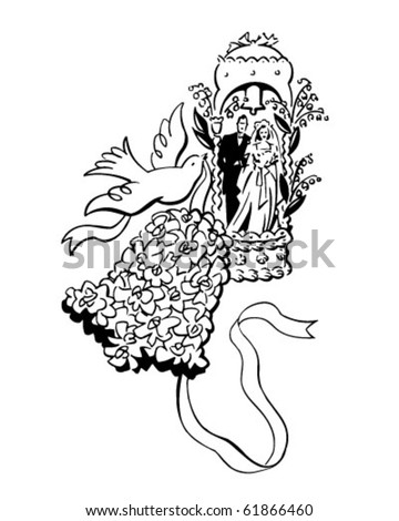 Clip Art Wedding Bells. Bell And Dove - Wedding