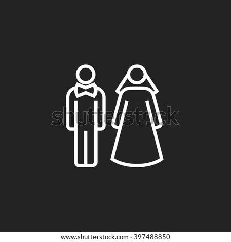 bride and groom outline icon
