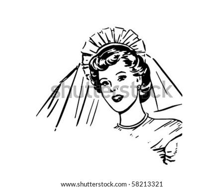 Bride - Retro Clip Art