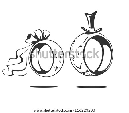 Wedding rings vector  Hochzeit Ringe Vektor | Free Vector Art bei Vecteezy!