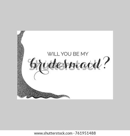 bridesmaid invitation card