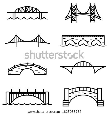 bridge and arch icons and