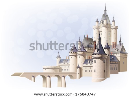 bridge and castle   with aerial